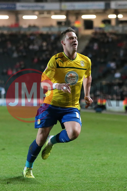 Coventry City's Chris Maguire celebrates after scoring a goal  - Photo mandatory by-line: Nigel Pitts-Drake/JMP - Tel: Mobile: 07966 386802 30/11/2013 - SPORT - Football - Milton Keynes - Stadium mk - MK Dons v Coventry City - Sky Bet League One