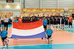 20170524 NED: 2018 FIVB Volleyball World Championship qualification, Koog aan de Zaan<br />Team Nederland, Wilhelmus<br />©2017-FotoHoogendoorn.nl / Pim Waslander