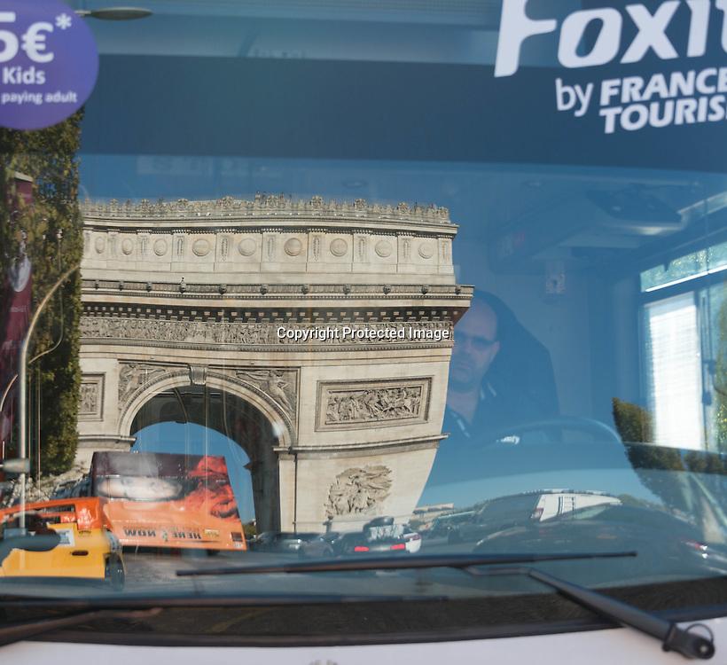 Paris the Arc de triomphe on the Champs elysees
