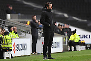 Milton Keynes Dons manager Russell Martin during the EFL Trophy match between Milton Keynes Dons and Coventry City at Stadium:MK, Milton Keynes, England on 3 December 2019.