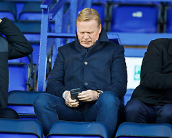 BIRKENHEAD, ENGLAND - Sunday, October 23, 2016: Everton's manager Ronald Koeman  watches the Mini-Derby FA Premier League 2 Under-23 match against Liverpool at Prenton Park. (Pic by David Rawcliffe/Propaganda)