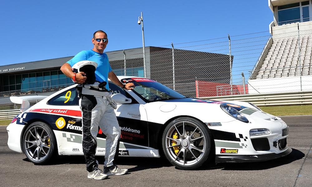 Francesco Bruni driving a Porche GT3 at the Autodromo International Algarve. Photo:Chris Davies/WMRT