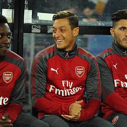 Mesut Özil of Arsenal laughs on the bench before Western Sydney Wanderers vs Arsenal, Preseason Friendly , 15.07.17 (c) Harriet Lander | SportPix.org.uk
