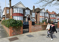 © Licensed to London News Pictures. 07/04/2013. London, UK The North Korean Embassy in Ealing in West London today, 7th April 2013. The Embassy is based in a 1920's detached house in a residential area. Photo credit : Stephen Simpson/LNP