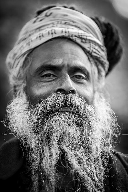 Portrait of Sadhu, Nepal.