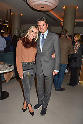21 November 2019 - Edward Taylor and Louisa Preskett at the launch of Sam's Riverside Restaurant, 1 Crisp Walk, Hammersmith hosted by owner Sam Harrison, Edward Taylor and Jack Brooksbank.<br /> <br /> Photo by Dominic O'Neill/Desmond O'Neill Features Ltd.  +44(0)1306 731608  www.donfeatures.com