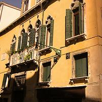 Italian building with windows