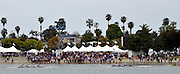 San Diego, California. USA,   2013 San Diego Crew Classic, Mission Bay.  General View, GV, crews passing the Spectators' area, on the Beach. 10:27:08   Sunday  07/04/2013  [Mandatory Credit. Karon Phillips/Intersport Images]..