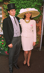Trainer MR CHARLIE BROOKES and MRS MIRIAM FRANCOME, at Royal Ascot on 18th June 1998.MIN 35