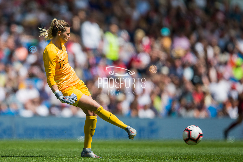Carly Telford (GK) (England) during the FIFA Women's World Cup UEFA warm up match between England Women and New Zealand Women at the American Express Community Stadium, Brighton and Hove, England on 1 June 2019.