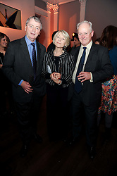 Left to right, STEPHEN QUINN and GILLY & NEIL MACKWOOD at the presentation of the Veuve Clicquot Business Woman Award 2010 held at the Institute of Contemporary Arts, 12 Carlton House Terrace, London on 23rd March 2010.  The winner was Laura Tenison - Founder and Managing Director of JoJo Maman Bebe.