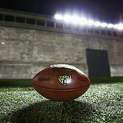 A FXFL game ball is seen during the first ever Boston Brawlers home game at Harvard Stadium on October 24, 2014 in Boston, Massachusetts. (Photo by Elan Kawesch)