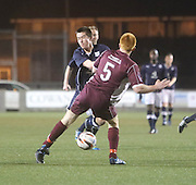 Cammy Kerr gets flattened - Stenhousemuir v Dundee, SPFL Reserve League Cup at Ochilview<br /> <br /> <br />  - &copy; David Young - www.davidyoungphoto.co.uk - email: davidyoungphoto@gmail.com