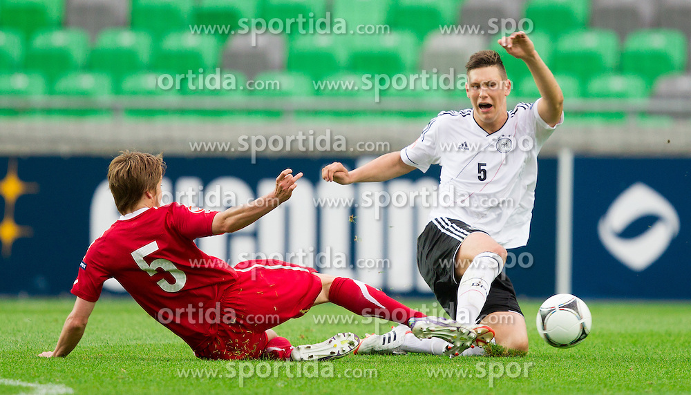 Igor Lasicki of Poland vs Niklas Suele of Germany during the UEFA European Under-17 Championship Semifinal match between Germany and Poland on May 13, 2012 in SRC Stozice, Ljubljana, Slovenia. Germany defeated Poland 1-0 and qualified to finals. (Photo by Vid Ponikvar / Sportida.com)