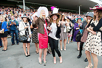 05/08/2012  Punters at the final day of the Galway Races Summer festival . Photo: Andrew Downes