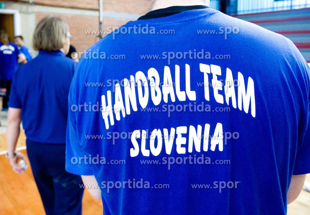 Handball team at practice of Slovenian Handball Men National Team, on June 4, 2009, in Arena Kodeljevo, Ljubljana, Slovenia. (Photo by Vid Ponikvar / Sportida)