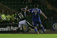 Photo: Lee Earle.<br /> Plymouth Argyle v Cardiff City. Coca Cola Championship. 12/09/2006. Cardiff's Steven Thompson (R) scores the opening goal.