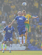 Birmingham - Saturday March 21st, 2009: Lee Carsley of Birmingham City and Sammy Clingan of Norwich City during the Coca Cola Championship match at St Andrews, Birmingham. (Pic by Alex Broadway/Focus Images)