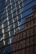 New york midtown Hearst tower, Foster building reflection, Manhattan - United states