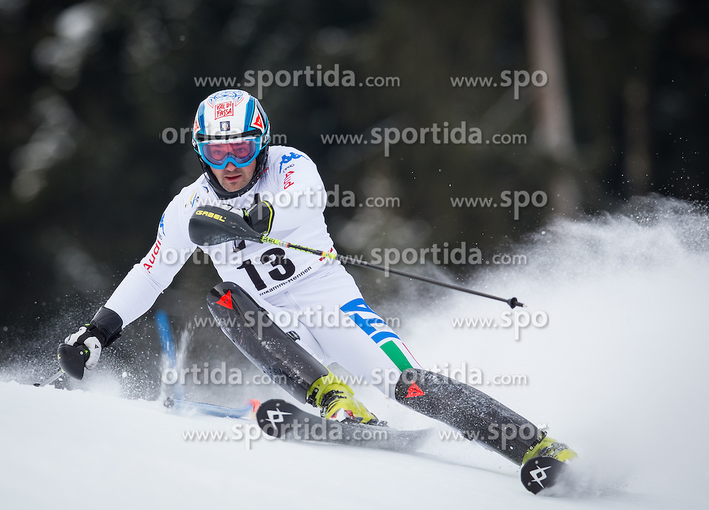 27.01.2013, Ganslernhang, Kitzbuehel, AUT, FIS Weltcup Ski Alpin, Slalom, Herren, 1. Lauf, im Bild Cristian Deville (ITA) // Cristian Deville of Italy in action during 1st run of the  mens Slalom of the FIS Ski Alpine World Cup at the Ganslernhang course, Kitzbuehel, Austria on 2013/01/27. EXPA Pictures © 2013, PhotoCredit: EXPA/ Johann Groder