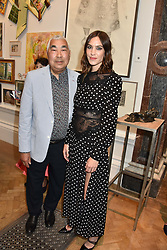 Alexa Chung and her father Philip Chung at The Royal Academy of Arts Summer Exhibition Preview Party 2019, Burlington House, Piccadilly, London England. 04 June 2019.