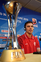 O capitão Bolivar da equipe do S.C. Internacional durante coletiva de imprensa no media center do Zayed Sports City. O S.C. Internacional participa de 8 a 18 de dezembro do Mundial de Clubes da FIFA, em Abu Dhabi. FOTO: Jefferson Bernardes/Preview.com