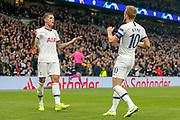 Tottenham Hotspur forward Harry Kane (10) scores and celebrates during the Champions League match between Tottenham Hotspur and Red Star Belgrade at Tottenham Hotspur Stadium, London, United Kingdom on 22 October 2019.