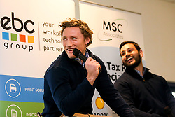 Tom Howe and Matti Williams of Worcester Warriors Q&A in Hospitality - Mandatory by-line: Robbie Stephenson/JMP - 15/02/2020 - RUGBY - Sixways Stadium - Worcester, England - Worcester Warriors v Bath Rugby - Gallagher Premiership Rugby