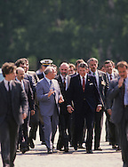 President Ronald Reagan and Mikhail Gorbachev walk in Red Square in Moscow in June 1988...Photograph by Dennis Brack bb24