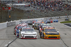 November 3, 2018 - Ft. Worth, Texas, United States of America - Daniel Hemric (21) battles for position during the O'Reilly Auto Parts Challenge at Texas Motor Speedway in Ft. Worth, Texas. (Credit Image: © Justin R. Noe Asp Inc/ASP via ZUMA Wire)