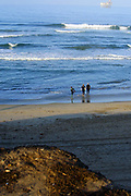 Huntington Beach Surfers Going Out