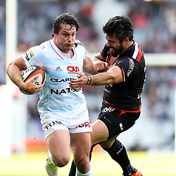 Yann David of Toulouse and Henry Chavancy of Racing 92 during the Top 14 match between Stade Toulousain and Racing 92 on April 16, 2017 in Toulouse, France. (Photo by Manuel Blondeau/Icon Sport)