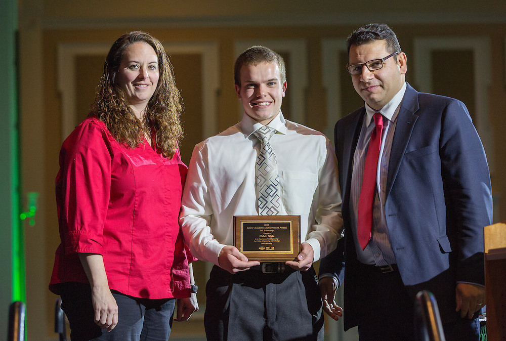 Civil Engineering Junior Academic Achievement Award 2nd Runner Up: Caleb Slyh, Fritz J. and Dolores H. Russ College of Engineering and Technology Student Awards Banquet April 10, 2016. (Photo by Emily Matthews)