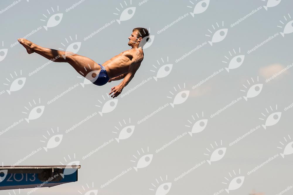 KLEIN Sascha Germany GER, bronze medal<br /> 10m. platform men<br /> 15th FINA World Aquatics Championships 2013<br /> Day 09 diving finals<br /> Barcelona 20 July - 4 August 2013<br /> Photo G.Scala/Insidefoto/Deepbluemedia.eu