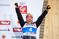 February 22, 2019 - Seefeld In Tirol, AUSTRIA - 190222 Bronze medalist Franz-Josef Rehrl of Austria celebrates on the podium after competing in menÃ•s nordic combined 10 km Individual Gundersen during the FIS Nordic World Ski Championships on February 22, 2019 in Seefeld in Tirol..Photo: Joel Marklund / BILDBYRN / kod JM / 87882 (Credit Image: © Joel Marklund/Bildbyran via ZUMA Press)