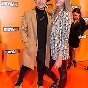 NLD/Amsterdam/20190208- 100% NL Awards  2019, Vinchenzo en partner ......