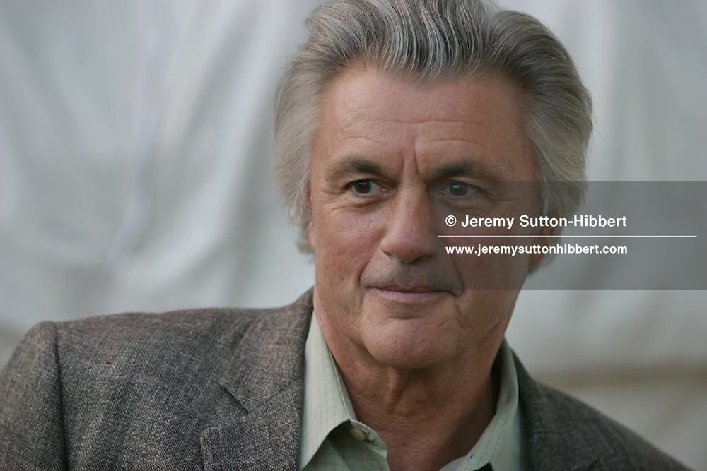 John Irving, American novelist. Author of 'The World According to Garp'...Photographed at the Edinburgh International Book Festival 2003.