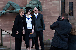 © under licence to London News Pictures 24/11/2010 Students at Coventry University were holding their graduation ceremony at Coventry Cathedral instead of taking part in the National Day of Protest. A family photo before the graduation ceremony..Picture credit: Dave Warren/London News Pictures...