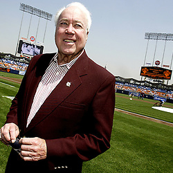 A portrait of Dodger great and Hall of famer Duke Snider before he tosses out the first pitch on opening day. San Francisco Giants vs Los Angeles Dodgers at Dodger  Stadium on Opening Day April 12. 2005. Dodgers beat the Giants 9-8 with 4 runs in the 9th inning.<br /> (SGVN Staff Photo Keith Birmingham/SXSports)