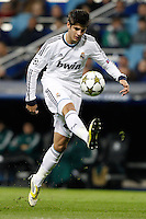 04.12.2012 SPAIN -  Champions League 12/13 Matchday 6th  match played between Real Madrid CF vs AFC Ajax (4-1) at Santiago Bernabeu stadium. The picture show Alvaro Borja Morata Martin (Spanish Forward of Real Madrid)