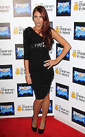 Amy Childs arrives at the Piccadilly Theatre to see a performance of West End Musical GHOST in aid of 'BBC Children in Need POP Goes the Musical', London, UK. 14 September 2011 Contact: Rich@Piqtured.com +44(0)7941 079620 (Picture by Richard Goldschmidt)