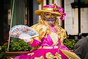 Woman in Carnival dress, Venice, Veneto, Italy