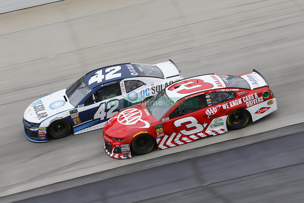 May 6, 2018 - Dover, Delaware, United States of America - Kyle Larson (42) and Austin Dillon (3) battle for position during the AAA 400 Drive for Autism at Dover International Speedway in Dover, Delaware. (Credit Image: © Chris Owens Asp Inc/ASP via ZUMA Wire)