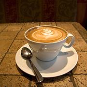 Coffee break at Caffè Artigiano, the most famous cafè in Vancouver