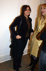 Left to right, SOLANGE AZAGURY-PARTRIDGE and ALLEGRA HICKS at 'A Night at Crumbland' an evening to celebrate the launch of the Stella McCartnry and Robert Crumb collaboration aand the publication of the R.Crumb handbook, held at Stella McCartney, 30 Bruton Street, London W1 on 17th March 2005.<br /><br />NON EXCLUSIVE - WORLD RIGHTS