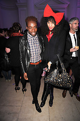 Model JOY VIELI and JASON BOATENG at a party to celebrate the Mulberry Autumn Winter 2010 collection held at The Orangery, Kensington Palace, London on 21st February 2010.
