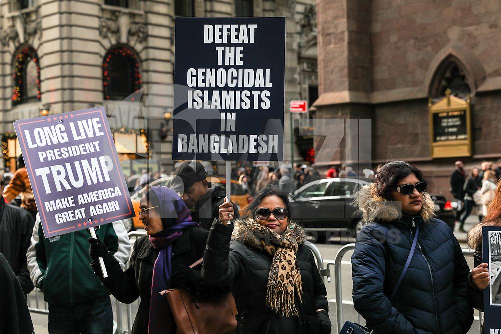 NEW YORK, EUA,02.12.2017 - PROTESTO-NEW YORK - Ativistas realizam ato em frente a Trump Tower em Manhattan New York neste sabado. (Foto: Vanessa Carvalho/Brazil Photo Press)