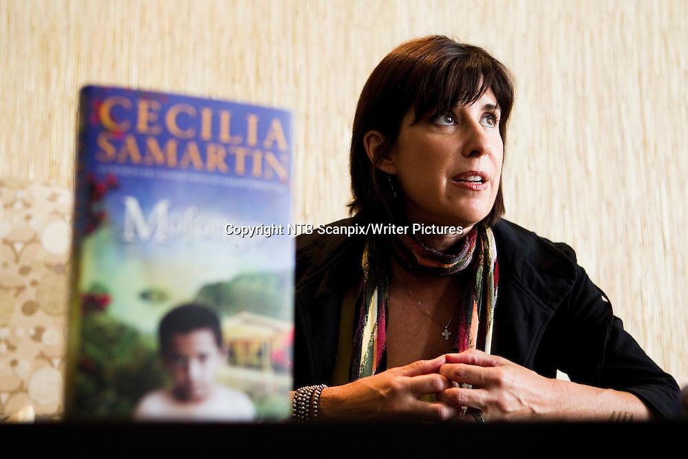 Oslo  20100903.<br /> Cecilia Samartin er i Norge i forbindelse med utgivelsen av sin nye roman &quot;Mofongo&quot;.  Her presenterer forfatteren boken i restauranten &quot;Posthallen&quot; i Oslo.  <br /> Foto: Berit Roald / Scanpix<br /> <br /> NTB Scanpix/Writer Pictures<br /> <br /> WORLD RIGHTS, DIRECT SALES ONLY, NO AGENCY