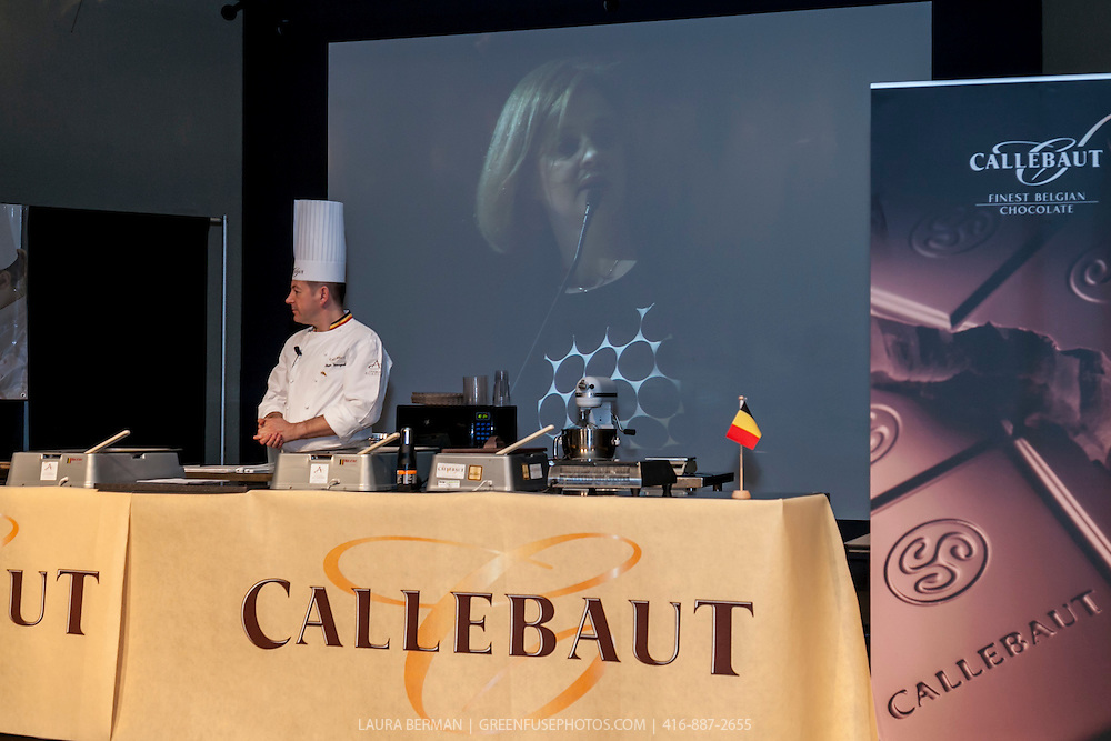 Demonstration Celebrating 100 years of Callebaut Finest Belgian Chocolate, Featuring Chef Philippe Vancayseele, Technical Advisor, Belguim.Chocolate Academy. At Humber College, February 23, 2012