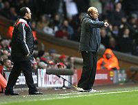 Photo: Paul Greenwood/Sportsbeat Images.<br />Liverpool v Bolton Wanderers. The FA Barclays Premiership. 02/12/2007.<br />Bolton manager Gray Megson issues orders from the technical area.